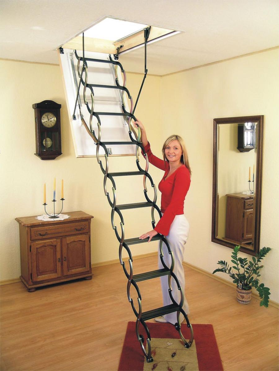Чердачная лестница установка своими руками